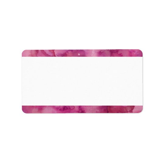 Blank Magenta Watercolor Address Label