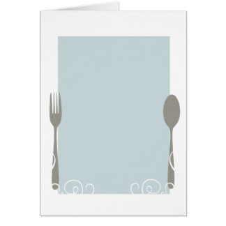 blank menu greeting cards