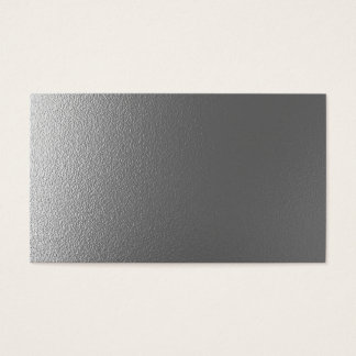 Blank metal design business card