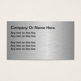 Blank metal business cards business card printing zazzle blank metallic looking business cards reheart Choice Image