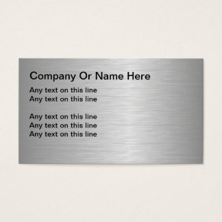 Blank Metallic Looking Business Cards