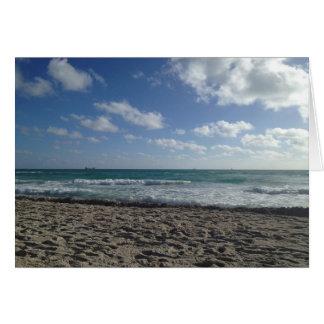 Blank Miami Beach Card