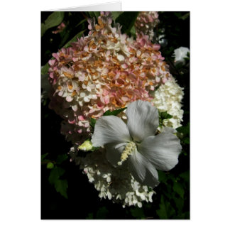 Blank Mixed Flowers Card-1 Greeting Card