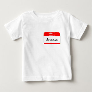 Blank name tag template baby T-Shirt