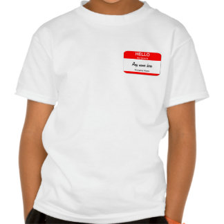 Blank Name Tag Templates Tee Shirts