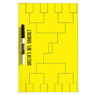Blank NFL Bracket Medium w/ Pen Dry Erase Board