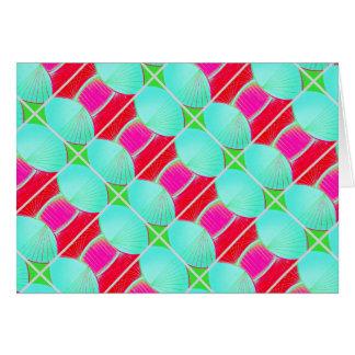 Blank Note Card (Art Deco/Watermelon)