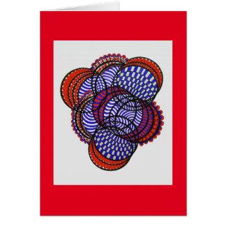 Blank Note Card (Circus Circles)
