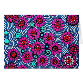 Blank Note Card (Floral Swirl)