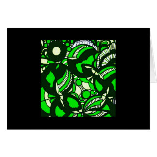 Blank Note Card (Green Bubbles)