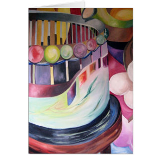 Blank note card (Merry Go Round)