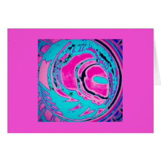Blank Note Card (Planet - Pink)