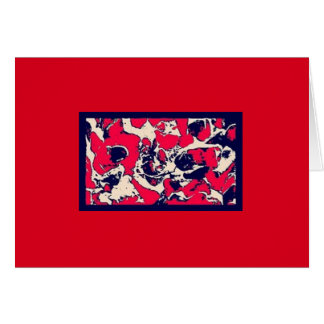 Blank Note Card (Red Hot)