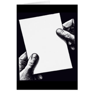 blank note paper greeting card