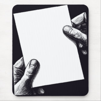 blank note paper mouse pad