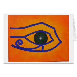 "Blank Notecard ""Eye of Ra"""