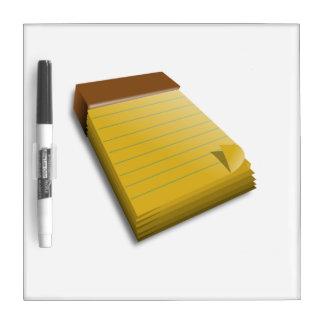Blank Notepad Dry Erase Board