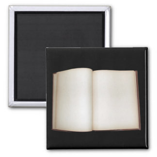 Blank pages square magnet