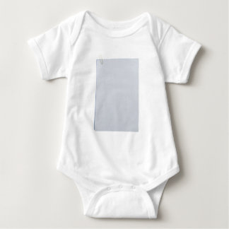 Blank papers and paperclip baby bodysuit