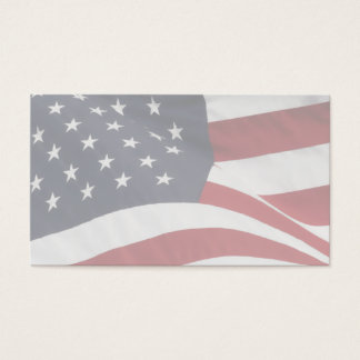 Blank Patriotic Business Cards