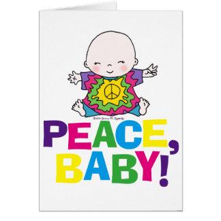Blank Peace Baby Hippy / Hippie Tie Dye Greeting Card