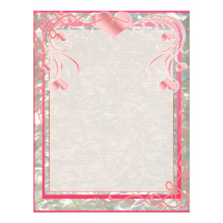 Blank Pearl Essence Paper Color Rose Full Color Flyer