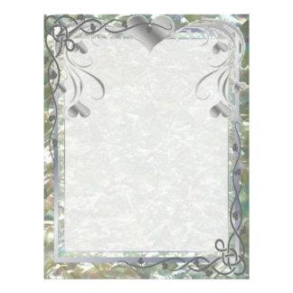 Blank Pearl Essence Paper Color Silverleaf 21.5 Cm X 28 Cm Flyer