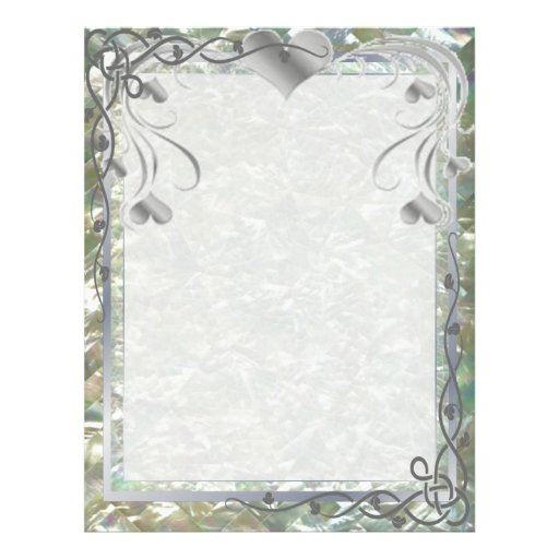 Blank Pearl Essence Paper Color Silverleaf Full Color Flyer