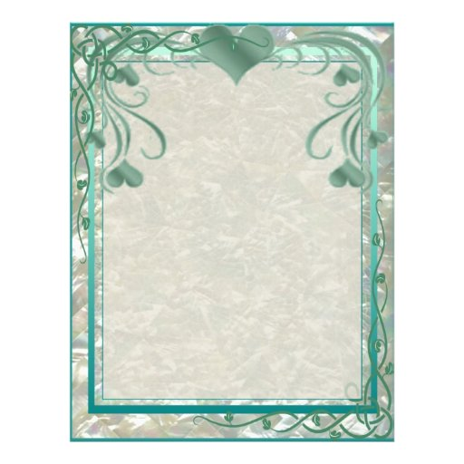Blank Pearl Essence Paper Color Teal Flyer