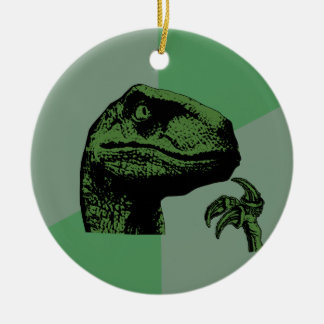 Blank Philosoraptor Round Ceramic Decoration