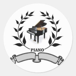 blank piano seal round sticker