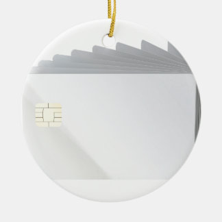 Blank plastic cards with chip ceramic ornament