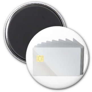 Blank plastic cards with chip magnet