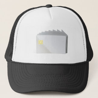 Blank plastic cards with chip trucker hat
