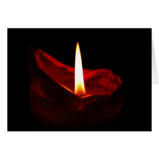 Blank red candle card