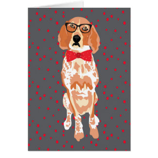 Blank Red tick Coonhound  Card