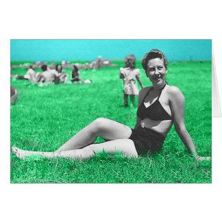 Blank Retro picnic Card