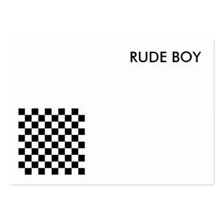 blank rude boy card business card templates