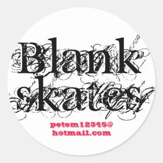 Blank , skates, www.zazzle.co.uk/sjmears round sticker