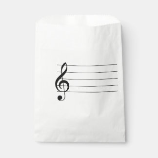 Blank Staff Treble Clef Musical Favor Bag