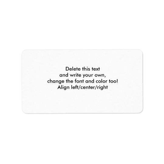 Blank Sticky Labels-customise Label