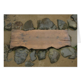 Blank Stone Steps card