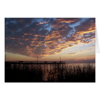 Blank Sunset Greeting Card