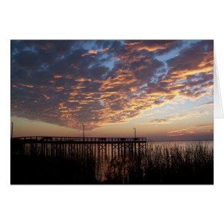 Blank Sunset Greeting Card