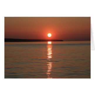 Blank sunset greeting card for any occasion