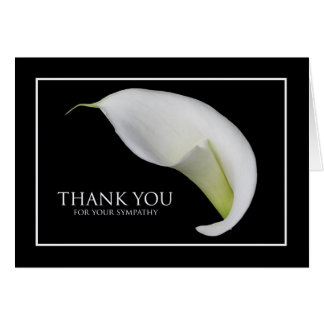 Blank Sympathy Thank You Card -- Peace Lily