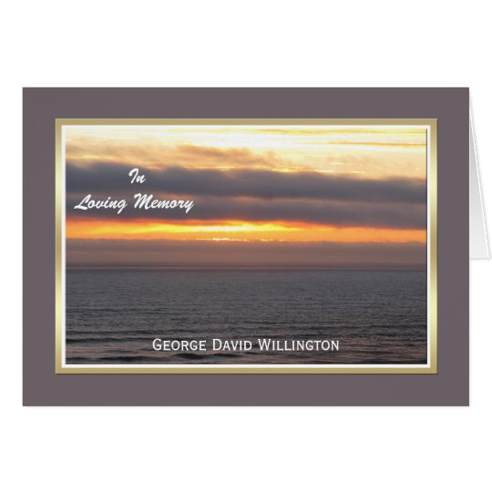 Blank Sympathy Thank You Note Card -- Custom Front