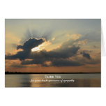 Blank Sympathy Thank You Note Card -- Sunset