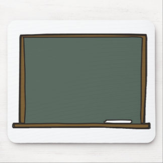 Blank Teacher's Chalk Board Mouse Pad
