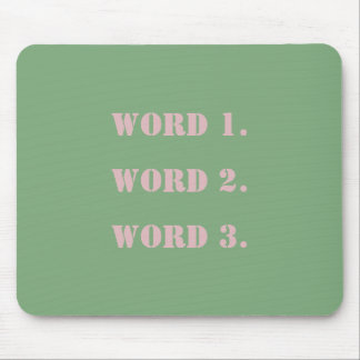 Blank template custom text greenery and pink mouse pad